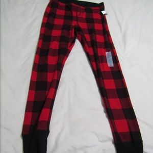 Checkered red and white pj pants
